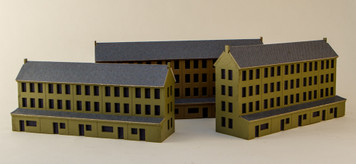 6mm Row Houses (Acrylic or Matboard)
