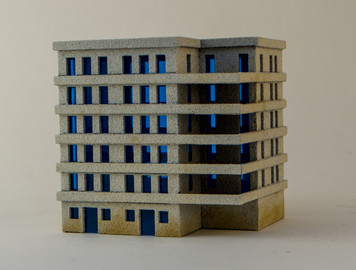 6mm Large Apartment Block (Matboard) - 285CSS152
