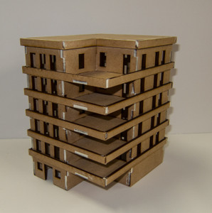 15mm Apartment Block (MDF) - 15MMDF153