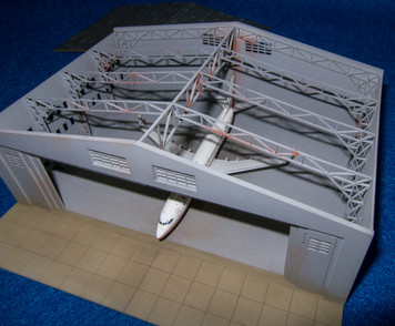 6mm Aircraft Hangar (Matboard) - 285CSS154