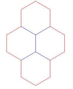 """Hex Bases, Quad Hex - (1.75"""")"""
