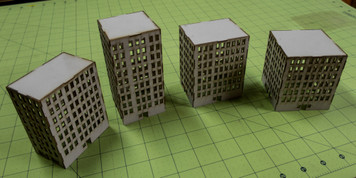 6mm Tall City Buildings (Matboard) - 285CSS055