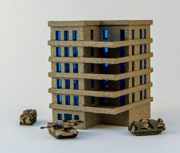 6mm Apartment Block (Acrylic) - 285ACR153