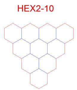 """Hex Bases, Array of Ten Hex - (2"""")"""