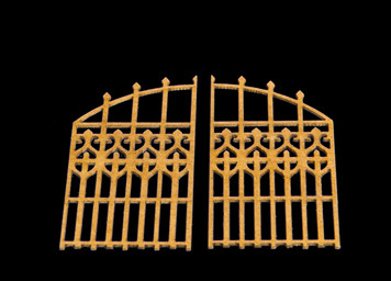 20mm (1/72nd) wrought iron double gate - 20MTAV025-1