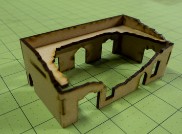 Middle East One Story Building (MDF) - 15MMDF015-D