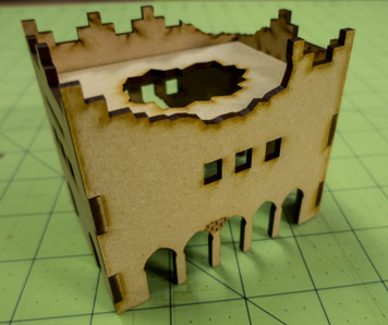 Middle East Two Story Building (MDF) - 15MMDF016-D