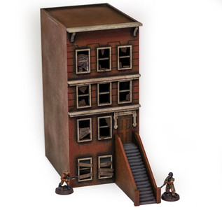 "28mm ""Brownstone"" Row House (MDF) - 28MMDF400"