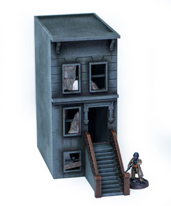 "28mm ""Brownstone"" Row House (MDF) - 28MMDF404"