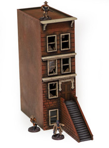 "28mm ""Brownstone"" Row House (MDF) - 28MMDF406"