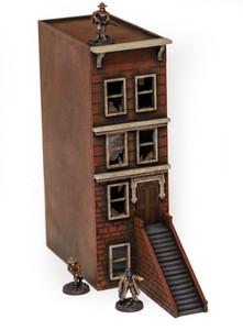 "28mm ""Brownstone"" Row House (MDF) - 28MMDF406"