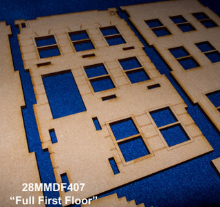 "28mm ""Brownstone"" Row House (MDF) - 28MMDF407"