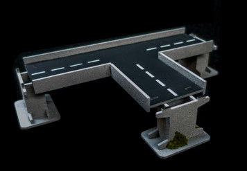 3 Way Intersection Roadway Section, 2 Lane - 285ROAD155-1