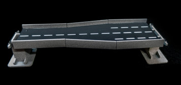 "6"" Straight Transition Section, 2 Lane to 4 Lane - 285ROAD161-1"