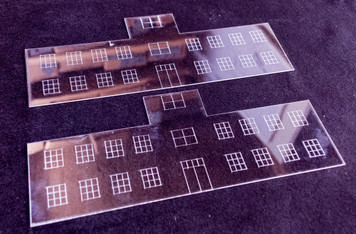 Window Kit for Airport Terminal Building w/ Tower - 20MMDF167-1