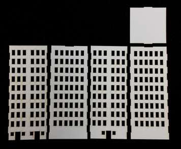 10mm City Building (Matboard) - 10MCSS007