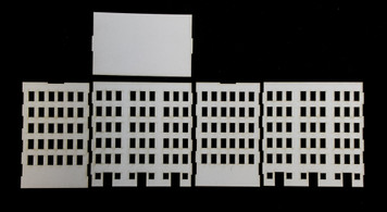 10mm City Building (Matboard) - 10MCSS008