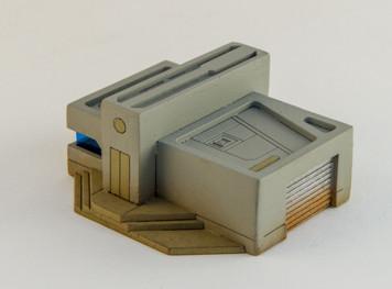 10mm Sci-Fi Future World Garage/Shop Building (Matboard) - 10MCSS252-8