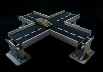 4 Way Intersection Roadway Section, 2 Lane - 10MROAD154-1