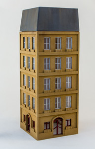 15mm European City Corner Building (Matboard) - 15MCSS115