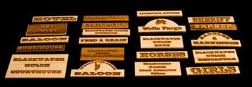 Old West Signs, Blackwater Gulch - 28MWEST100-1