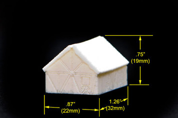 Small one story split timber house (Resin) - 285TAV003