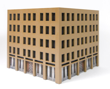 10mm City Building (MatBoard) - 10MCSS025-1