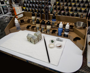 Painting Station - 26mm, For Vallejo and Army Painter Style Dropper Bottles