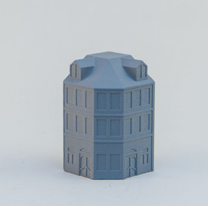 6mm Town Building, Corner - 285MEV112