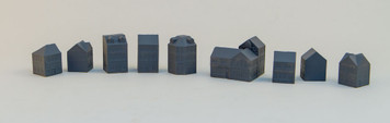 3mm Euro Town Buildings (Resin) (9 per set) - 3MMMEV001