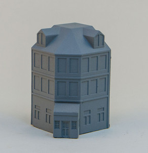 6mm Town Building, Corner - 285MEV113