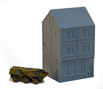 6mm Town Building, Corner - 285MEV114