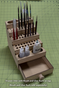Drawer Add-On For Paint Brush and Glue Rack