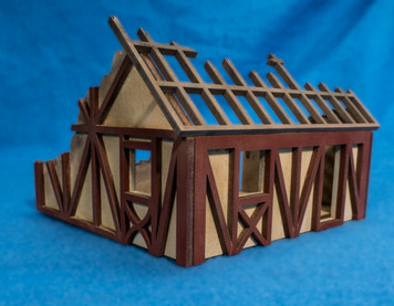 28mm Small Half Timber House  - 28MMDF550