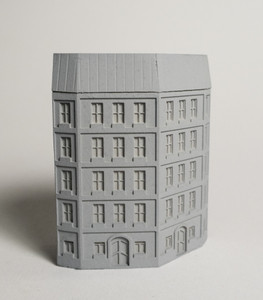 6mm European City Corner Building - 285MEV0145