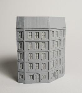 6mm European City Corner Building - 285MEV0145