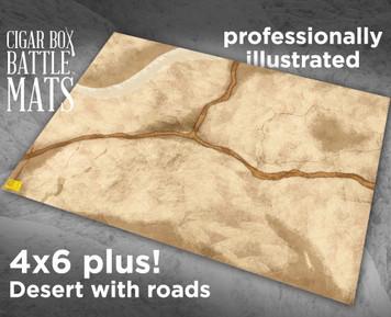 Battle Mat - Desert With Roads
