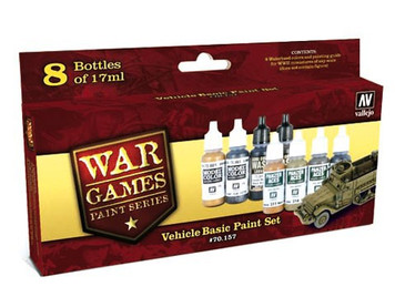Model Color Set: Vehicle Basic Paint Set (8)
