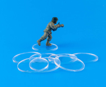 "25mm (1"") Bolt Action Small Bases - 1/16"" Clear Acrylic"