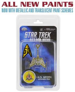 Star Trek Attack Wing: Wave 27 Klingon I.K.S. Gr`oth Expansion Pack (2016 Paint)