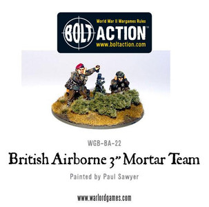 Bolt Action: British Para 3 Inch Mortar and Crew