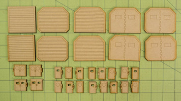 Lots Of 15mm Sci-Fi  Doors - 15MTW054