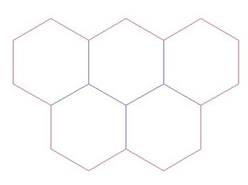 """Hex Bases, Five Hex Base - (1.75"""") HEX175-15"""