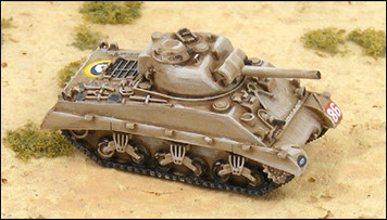 M4A2 75mm Sherman w/ Sand Shield - UK100