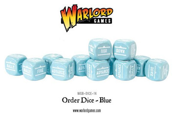 Bolt Action: Orders Dice Packs - Blue