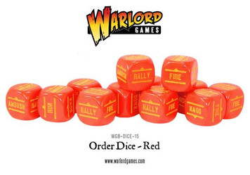 Bolt Action: Orders Dice Packs - Red