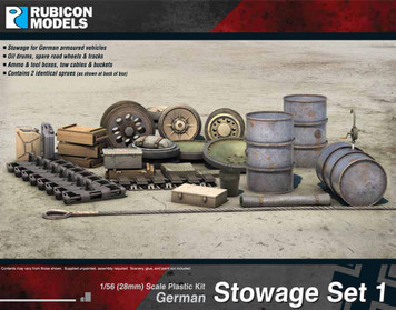 German Stowage Set 1 (1:56th scale / 28mm)