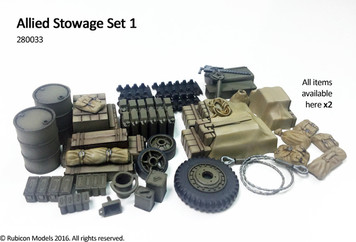 Rubicon Models Allied Stowage Set 1