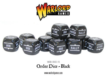 Bolt Action: Orders Dice Packs - Black