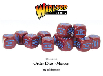 Bolt Action: Orders Dice Packs - Maroon